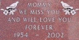 Red Granite Grave Marker